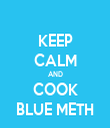 KEEP CALM AND COOK BLUE METH - Personalised Tea Towel: Premium