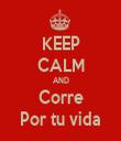 KEEP CALM AND Corre Por tu vida - Personalised Tea Towel: Premium