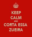 KEEP CALM AND CORTA ESSA  ZUEIRA - Personalised Tea Towel: Premium