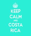 KEEP CALM AND COSTA RICA - Personalised Tea Towel: Premium