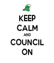 KEEP CALM AND COUNCIL ON - Personalised Tea Towel: Premium