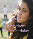 KEEP CALM AND countdown for her birthday - Personalised Tea Towel: Premium
