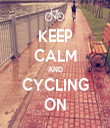 KEEP CALM AND CYCLING ON - Personalised Tea Towel: Premium