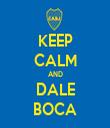 KEEP CALM AND DALE BOCA - Personalised Tea Towel: Premium