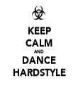 KEEP CALM AND DANCE HARDSTYLE - Personalised Tea Towel: Premium