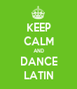 KEEP CALM AND DANCE LATIN - Personalised Tea Towel: Premium