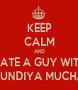 KEEP CALM AND DATE A GUY WITH KUNDIYA MUCHA - Personalised Tea Towel: Premium