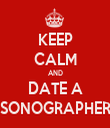KEEP CALM AND DATE A SONOGRAPHER - Personalised Tea Towel: Premium