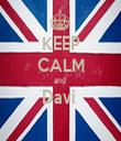 KEEP CALM and  Davi   - Personalised Tea Towel: Premium