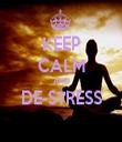KEEP CALM AND DE-STRESS  - Personalised Tea Towel: Premium