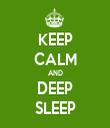 KEEP CALM AND DEEP SLEEP - Personalised Tea Towel: Premium