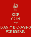 KEEP CALM AND DIANTY IS CRAVING FOR BRITAIN - Personalised Tea Towel: Premium