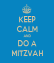 KEEP CALM AND DO A MITZVAH - Personalised Tea Towel: Premium