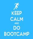 KEEP CALM AND DO BOOTCAMP - Personalised Tea Towel: Premium