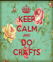 KEEP CALM AND DO CRAFTS - Personalised Tea Towel: Premium