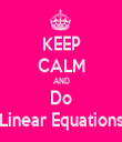 KEEP CALM AND Do Linear Equations - Personalised Tea Towel: Premium