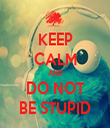 KEEP CALM AND DO NOT BE STUPID - Personalised Tea Towel: Premium