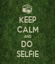 KEEP CALM AND DO  SELFIE - Personalised Tea Towel: Premium