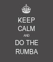 KEEP CALM AND DO THE RUMBA - Personalised Tea Towel: Premium