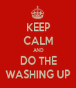 KEEP CALM AND DO THE WASHING UP - Personalised Tea Towel: Premium