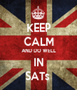KEEP CALM AND DO WELL IN SATs  - Personalised Tea Towel: Premium