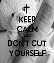 KEEP CALM AND DON'T CUT YOURSELF - Personalised Tea Towel: Premium