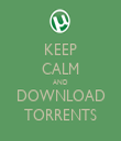 KEEP CALM AND DOWNLOAD TORRENTS - Personalised Tea Towel: Premium