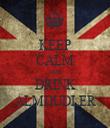 KEEP CALM AND DRINK ALMDUDLER - Personalised Tea Towel: Premium
