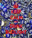 KEEP CALM AND DRINK BUDLIGHT - Personalised Tea Towel: Premium