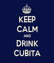 KEEP CALM AND DRINK CUBITA - Personalised Tea Towel: Premium