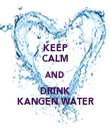 KEEP CALM AND DRINK KANGEN WATER - Personalised Tea Towel: Premium