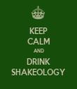 KEEP CALM AND DRINK SHAKEOLOGY - Personalised Tea Towel: Premium