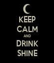 KEEP CALM AND DRINK SHINE - Personalised Tea Towel: Premium