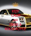 KEEP CALM AND DRIVE A ROLLS ROYCE - Personalised Tea Towel: Premium