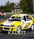 KEEP CALM AND DRIVE KADETT - Personalised Tea Towel: Premium