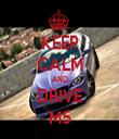 KEEP CALM AND DRIVE M5 - Personalised Tea Towel: Premium