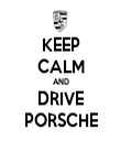 KEEP CALM AND DRIVE PORSCHE - Personalised Tea Towel: Premium