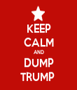 KEEP CALM AND DUMP TRUMP  - Personalised Tea Towel: Premium