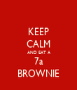 KEEP CALM AND EAT A 7a BROWNIE - Personalised Tea Towel: Premium
