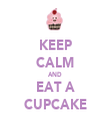 KEEP CALM AND EAT A CUPCAKE - Personalised Tea Towel: Premium