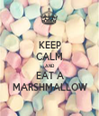 KEEP CALM AND EAT A MARSHMALLOW - Personalised Tea Towel: Premium