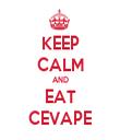 KEEP CALM AND EAT CEVAPE - Personalised Tea Towel: Premium