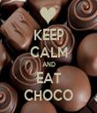 KEEP CALM AND EAT CHOCO - Personalised Tea Towel: Premium
