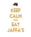 KEEP CALM AND EAT JAFFA'S - Personalised Tea Towel: Premium