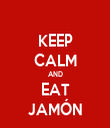 KEEP CALM AND EAT JAMÓN - Personalised Tea Towel: Premium