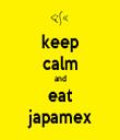 keep calm and eat japamex - Personalised Tea Towel: Premium