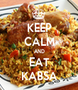 KEEP CALM AND EAT KABSA - Personalised Tea Towel: Premium