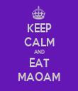 KEEP CALM AND EAT MAOAM - Personalised Tea Towel: Premium