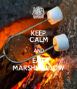 KEEP CALM AND EAT MARSHMALLOW - Personalised Tea Towel: Premium