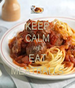 KEEP CALM AND EAT MEATBALLS - Personalised Tea Towel: Premium
